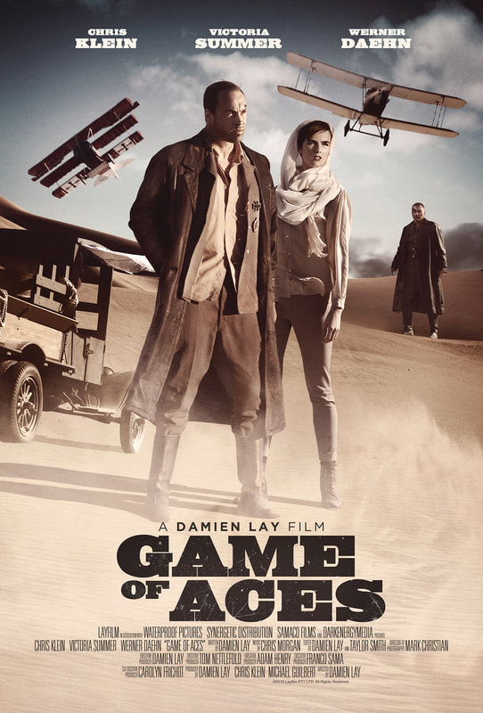 Damien Lay, Chris Klein, Victoria Summer, Werner Daehn, WWI, Triplane, War, Adventure movie, Arabian Desert, Game of Aces